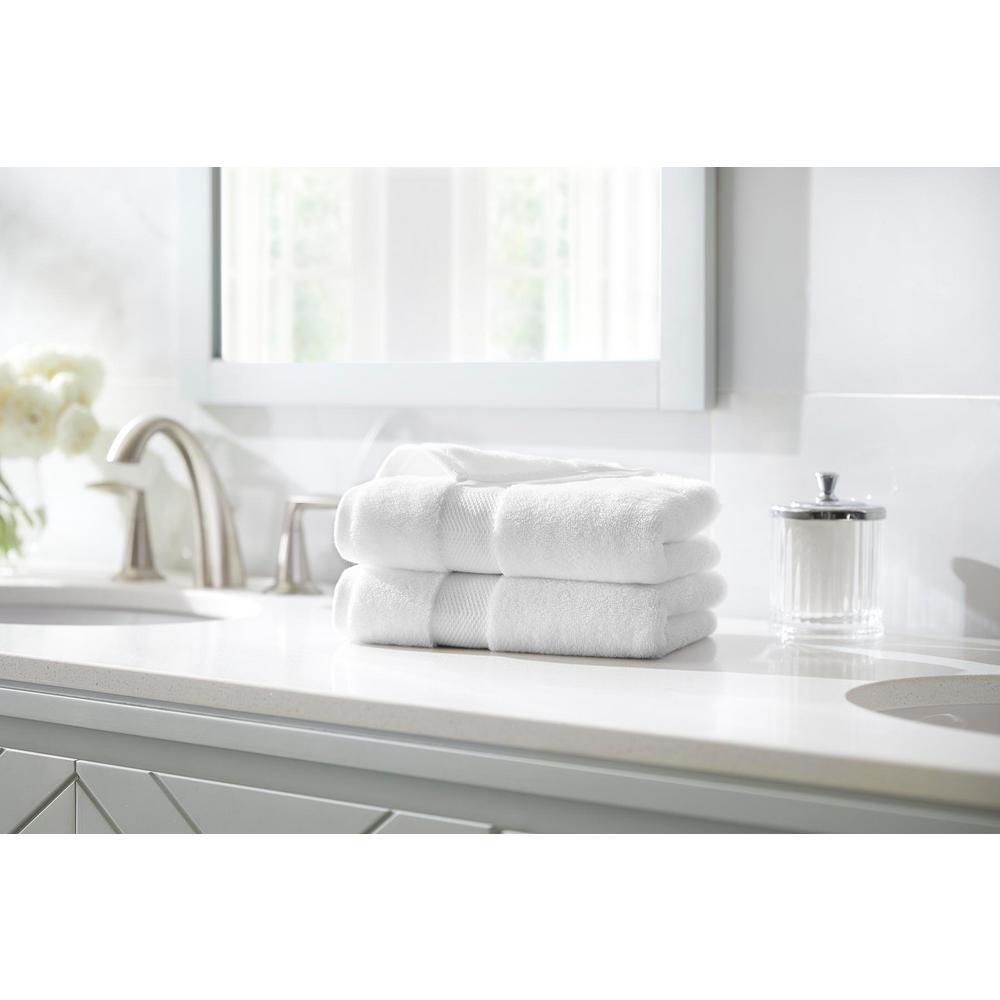 Home Decorators Collection Plush Soft Cotton Hand Towel in White (Set