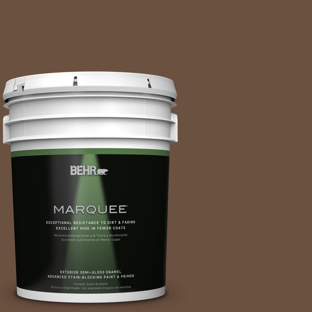 BEHR MARQUEE 5-gal. #S-H-700 Burley Wood Semi-Gloss Enamel Exterior Paint