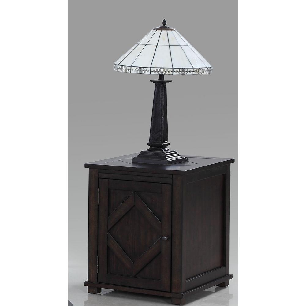 Foxcroft Dark Pine Chairside Cabinet