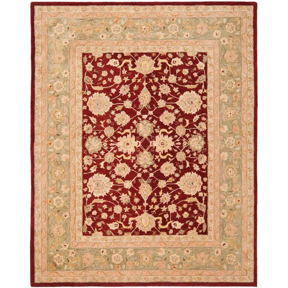 Safavieh Anatolia Red/Moss 9 Ft. X 12 Ft. Area Rug-AN522D