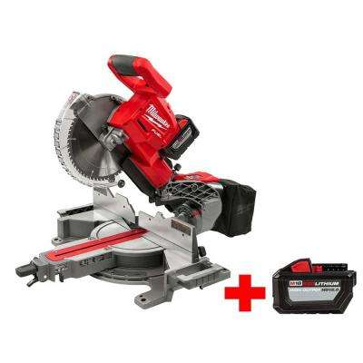 M18 FUEL 18-Volt Lithium-Ion Brushless Cordless 10 in. Dual Bevel Sliding Miter Saw Kit with Free M18 12.0 Ah Battery
