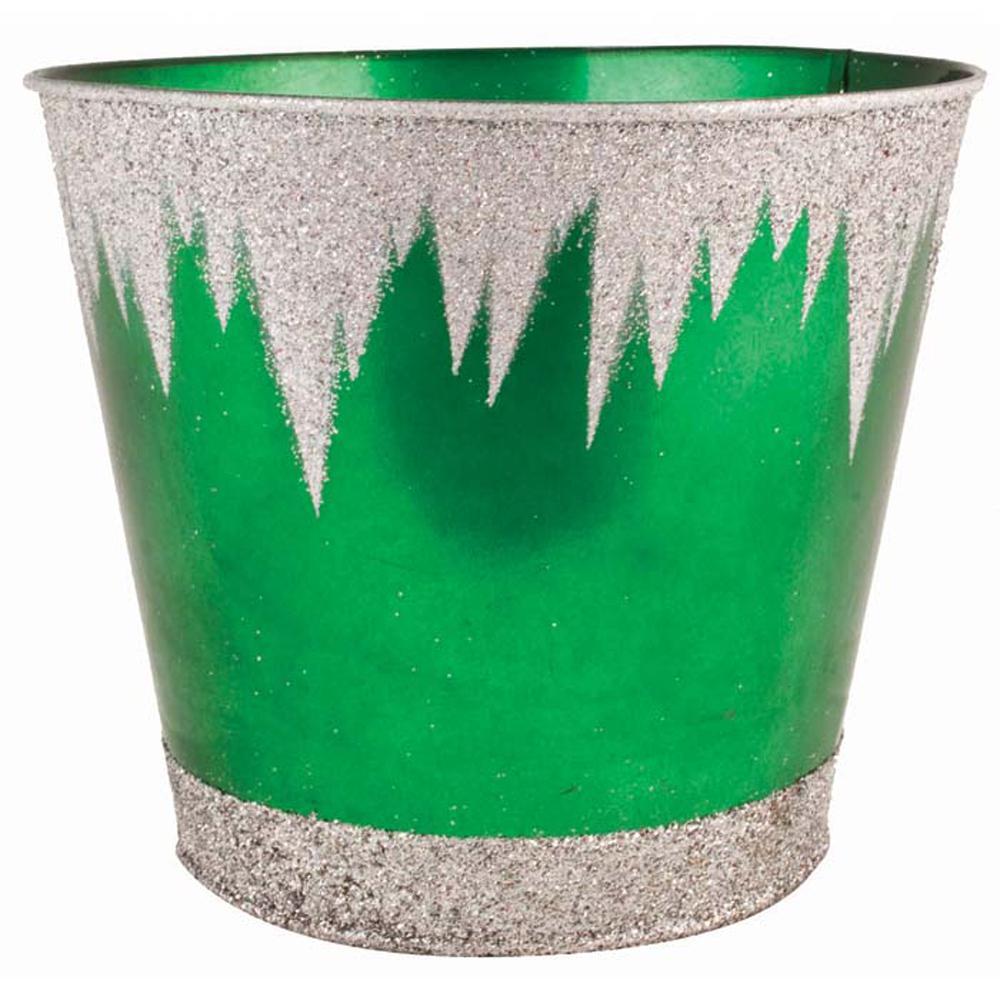 Frozen 7 in. Dia. Emerald Tin Pot