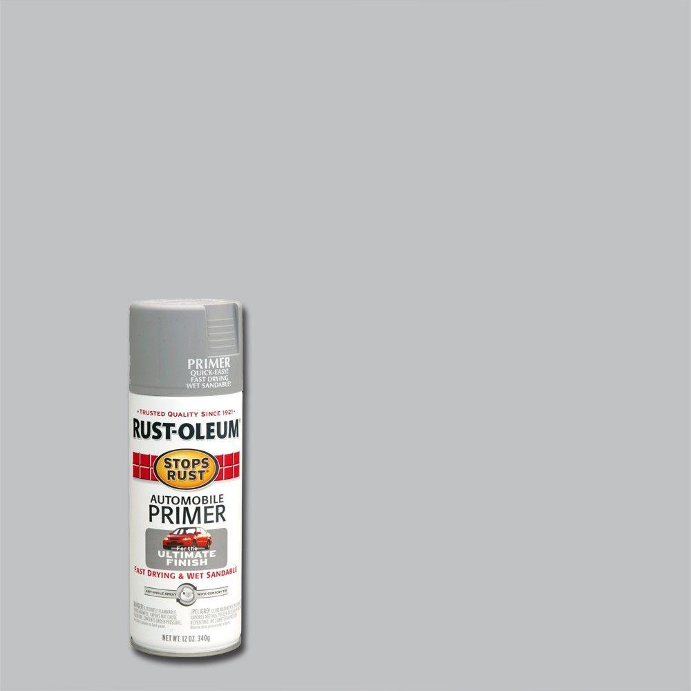 Rust Oleum Stops Rust 12 Oz Flat Light Gray Automotive