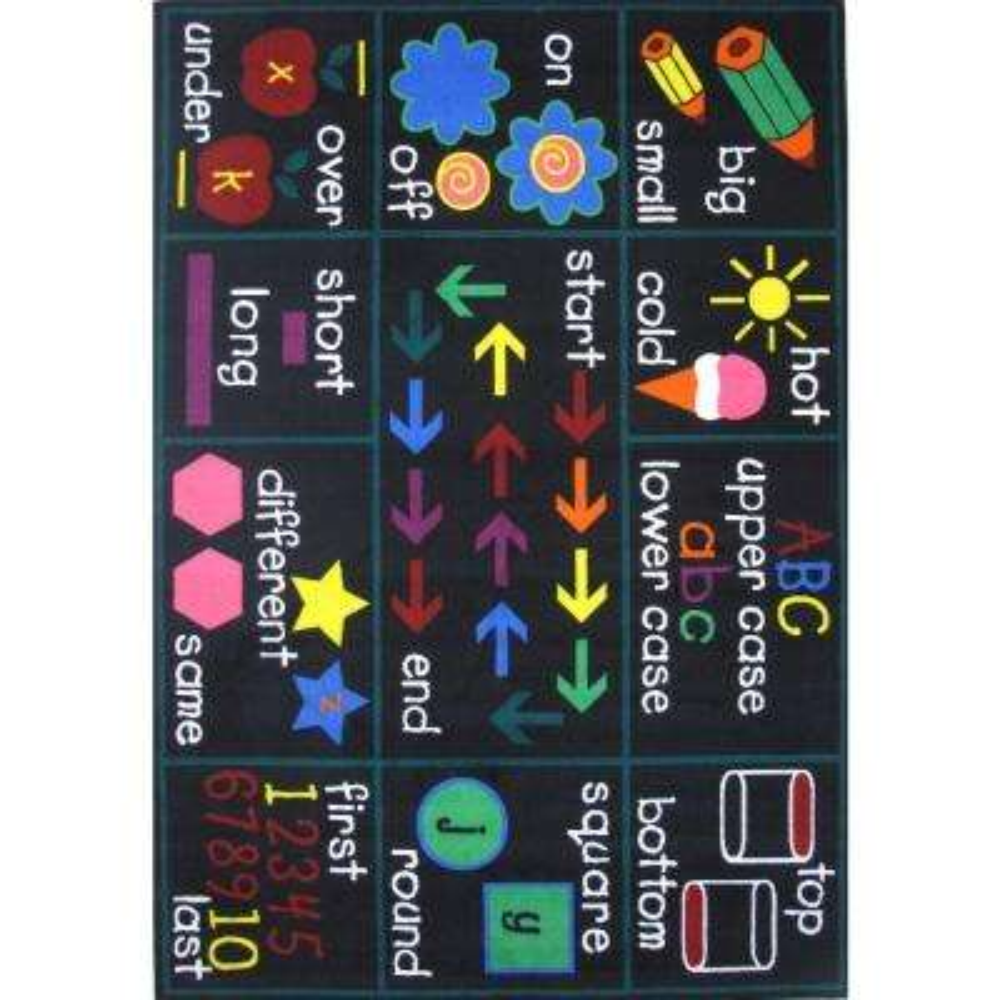 Fun Time Compare Multi Colored 8 ft. x 11 ft. Area Rug