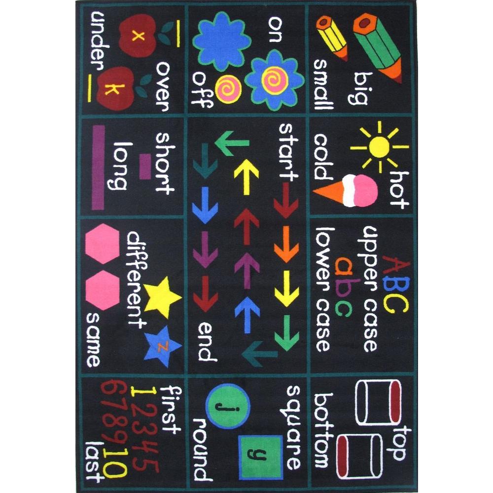 Fun Time Compare Multi Colored 5 ft. 3 in. x 7