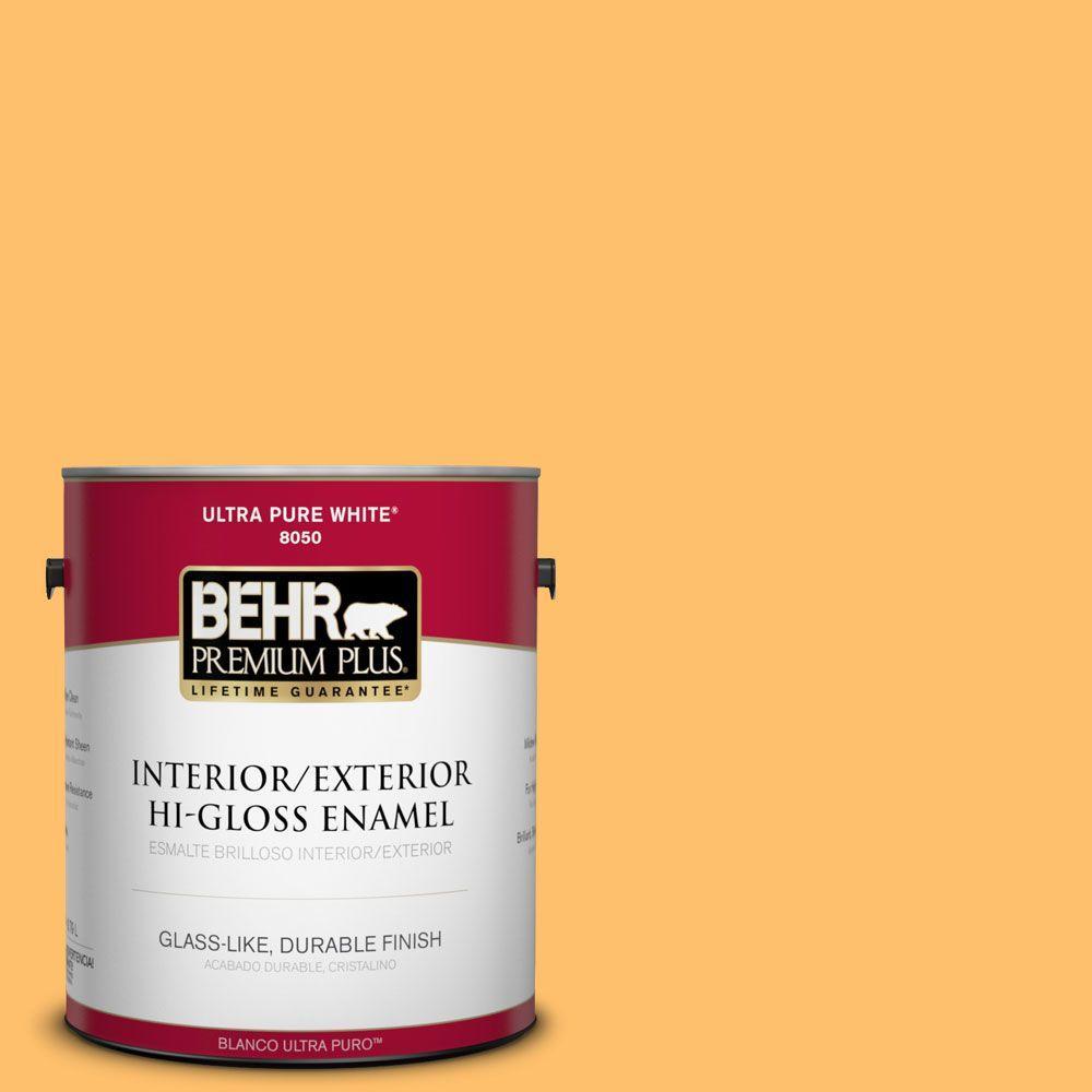 BEHR Premium Plus 1-gal. #P250-5 Solar Storm Hi-Gloss Enamel Interior/Exterior Paint