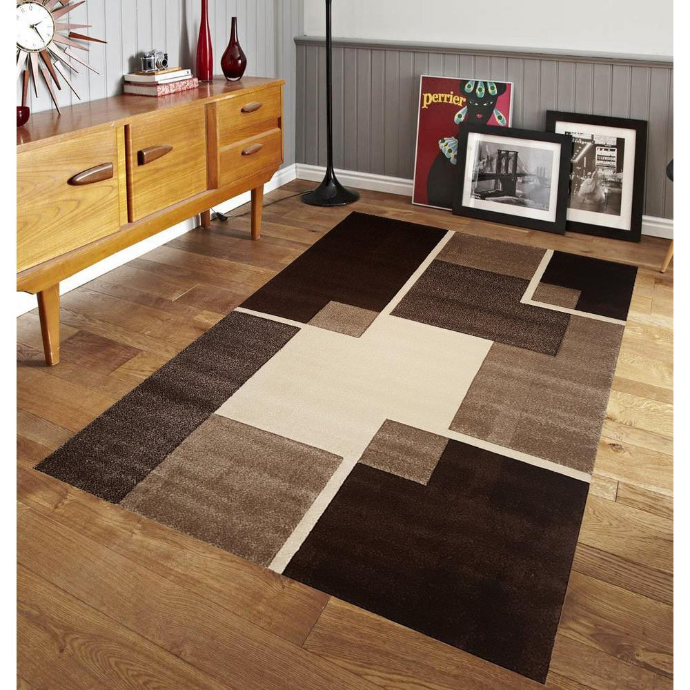 Pyramid Home Decor Renzo Collection Brown 8 Ft X 10 Ft