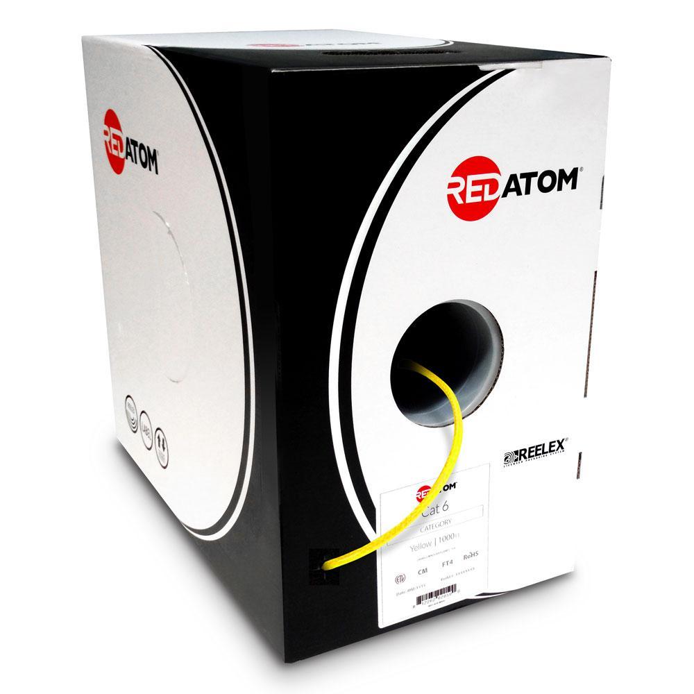 Cat6 1000 ft. 23 AWG 4-Pair UTP Red Atom, Yellow