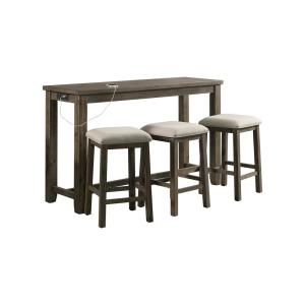 Stanford Multipurpose Gray Bar Table Set