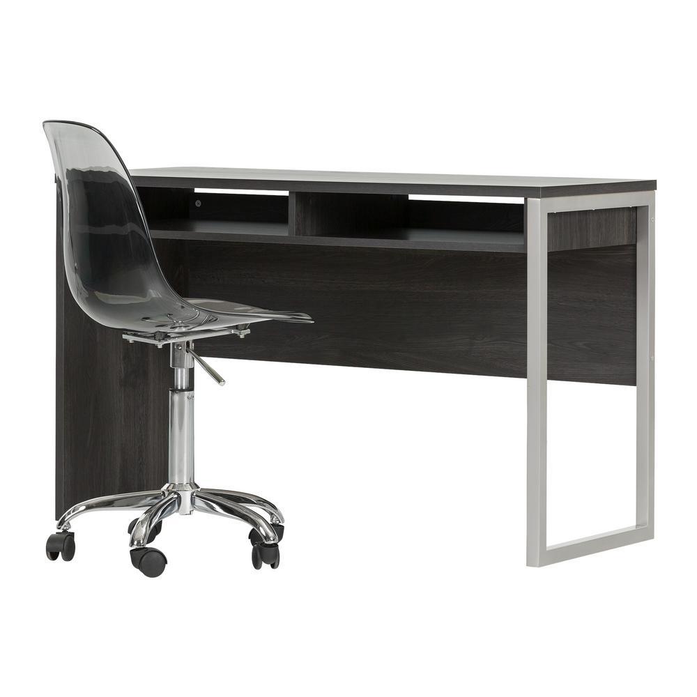 Interface Desk in Gray Oak