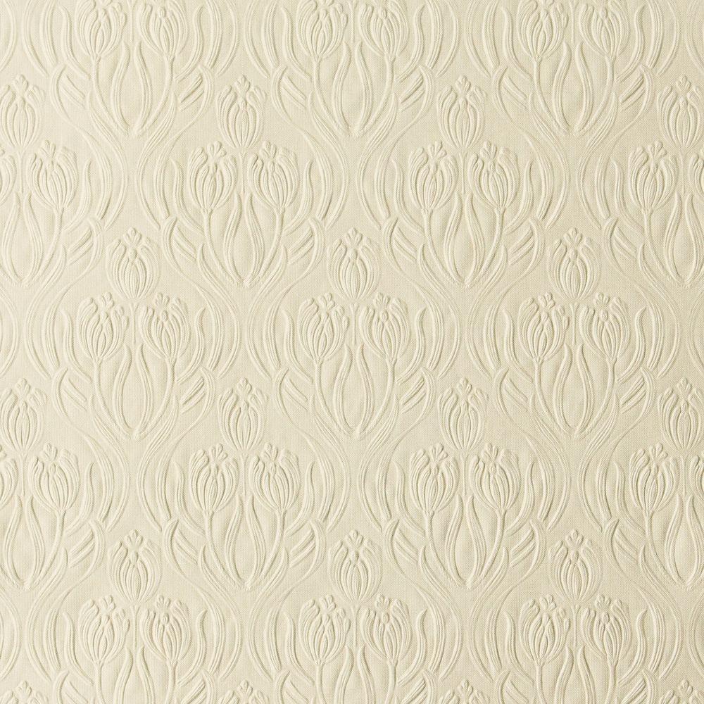Printemps Pearl Tulip Ogee Wallpaper