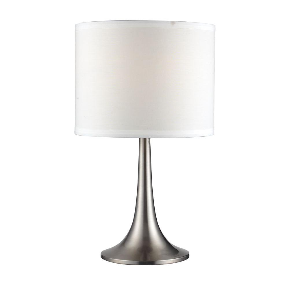 Tulen Lawrence 16 in. Brushed Nickel Table Lamp