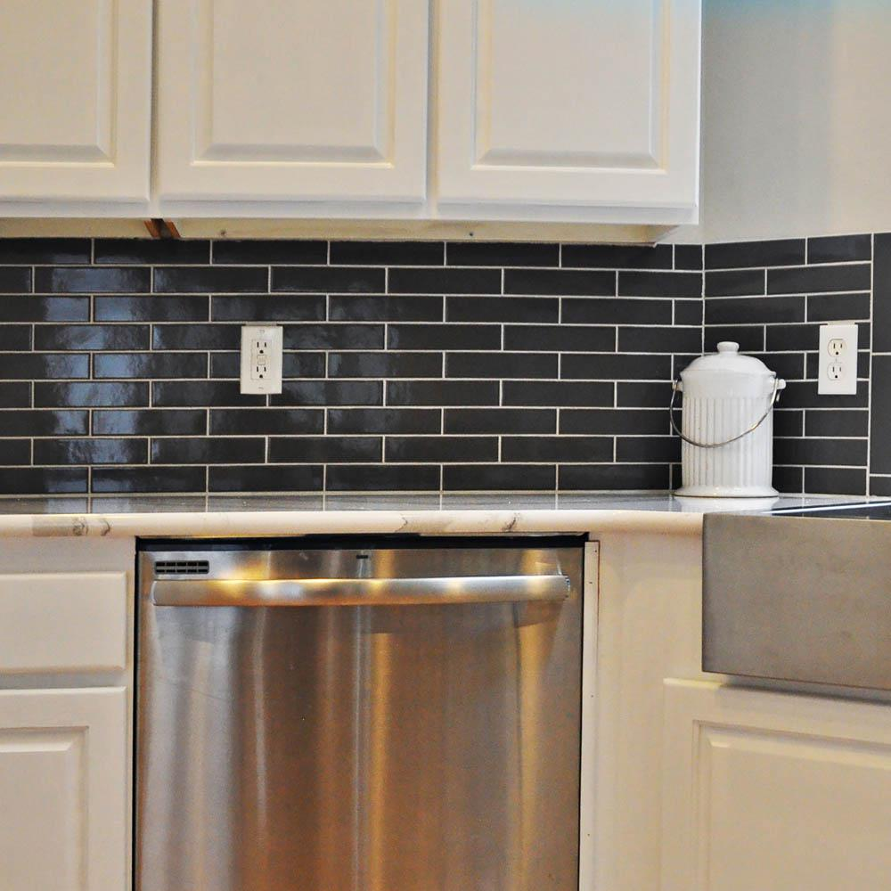 Merola Tile Metro Soho Subway Glossy Grey 1 3 4 In X 7 Porcelain Floor And Wall Sq Ft Pack