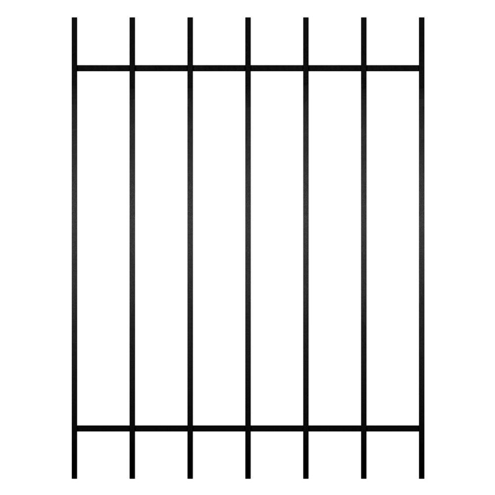 Unique Home Designs Guardian 36 in. x 48 in. Black 7-Bar Window Guard-DISCONTINUED