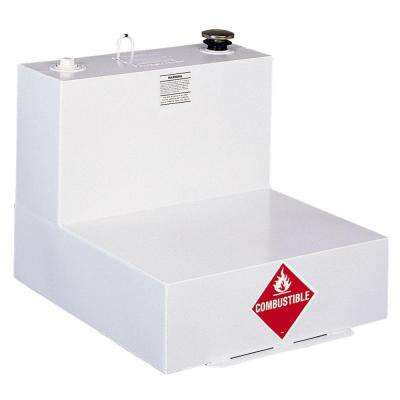 L-Shaped Steel Liquid Transfer Tank in White