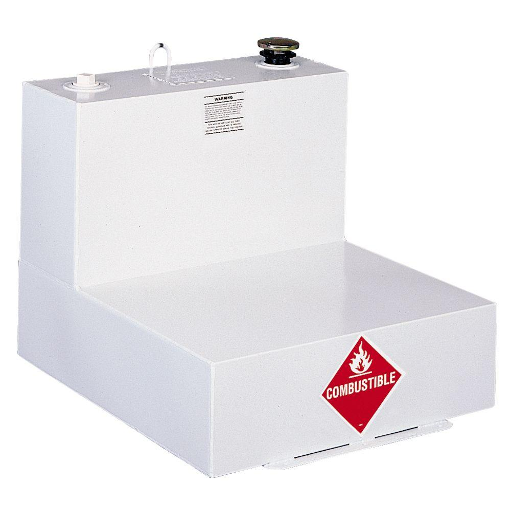 Delta L-Shaped Steel Liquid Transfer Tank in White