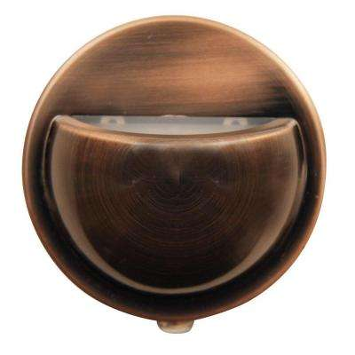 Brushed Copper Wall Washer Automatic LED Night Light