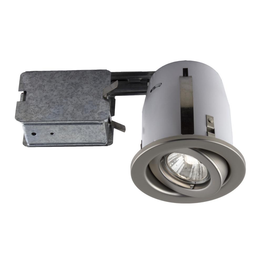 300 Series 4 in. Satin Recessed Halogen Interior Applications Light Fixture Kit