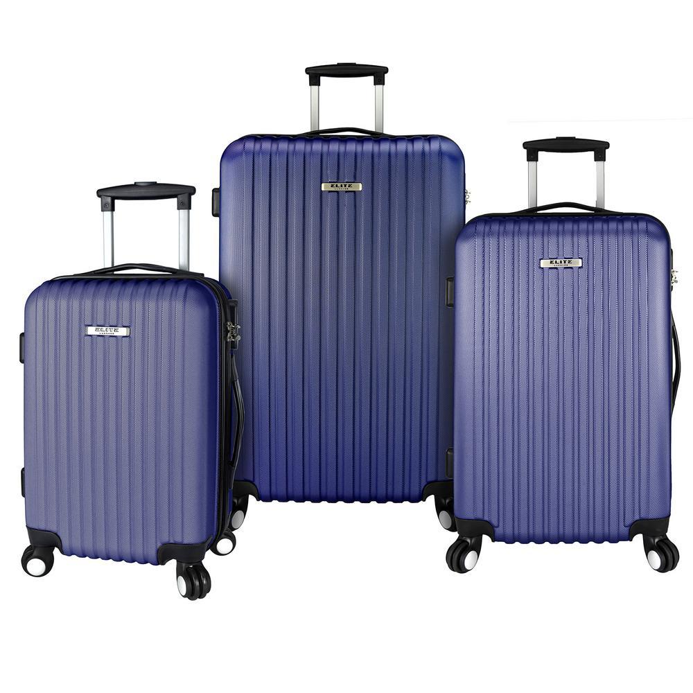 3-Piece Lightweight Luggage Set, Purple
