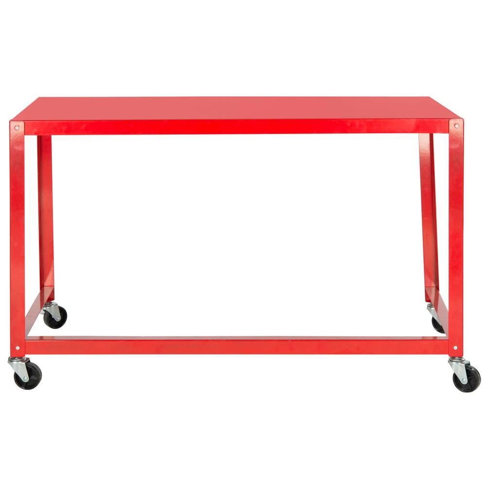 Safavieh Bentley Red Desk with Wheels