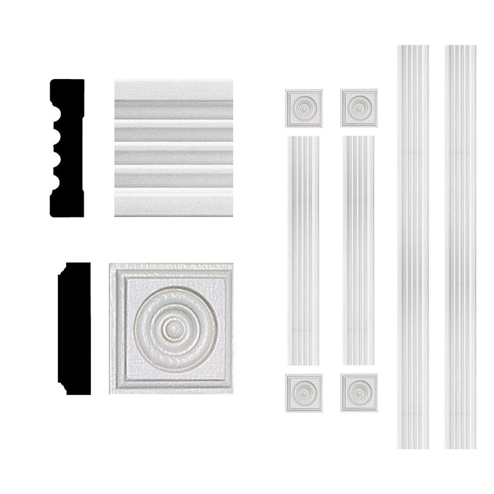 null 3/4 in. x 3 in. x 6 ft. MDF Fluted Window Casing Set