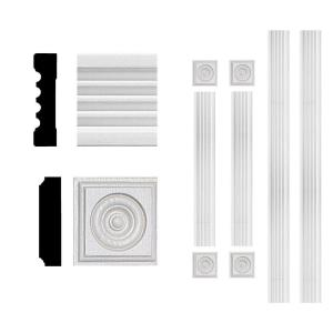 3/4 in. x 3 in. x 6 ft. MDF Fluted Window Casing Set