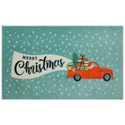 Mohawk Home Christmas Present Truck Multi 1 ft. 6 in. x 2 ft. 6 in. Scatter Area Rug, Blue