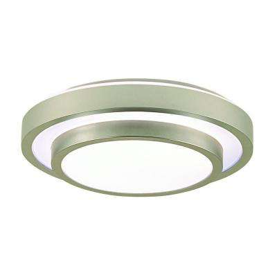Noire Collection 1-Light Silver Flushmount
