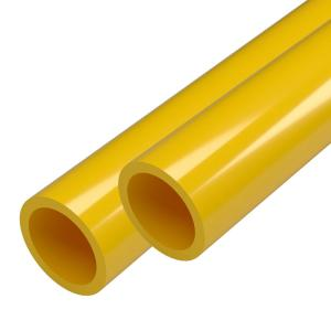 1-1/4 in. x 5 ft. Yellow Furniture Grade Schedule 40 PVC Pipe (2-Pack)