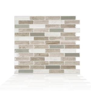 Deals on 4-Pk Smart Tiles Milenza Vasto Brown Peel and Stick Wall Tile
