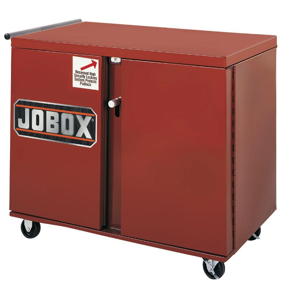 Jobox 40.50 in. Casters Rolling Work Bench in Brown/Tan