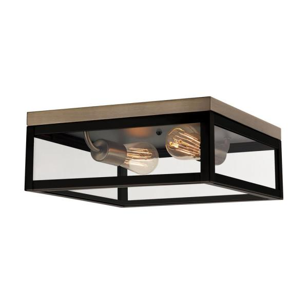 Verona 2-Light Dark Bronze Flush Mount