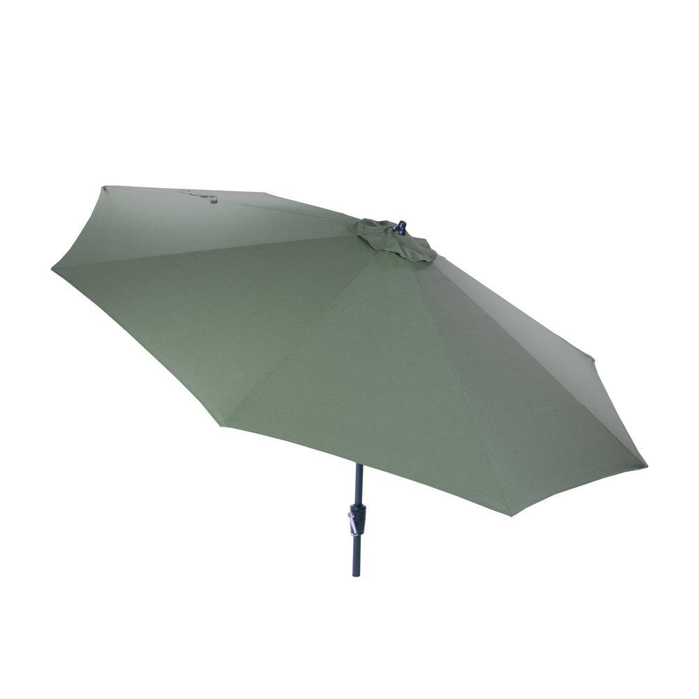 Hampton Bay 10 ft. Aluminum Market Patio Umbrella in Spa with Auto Tilt