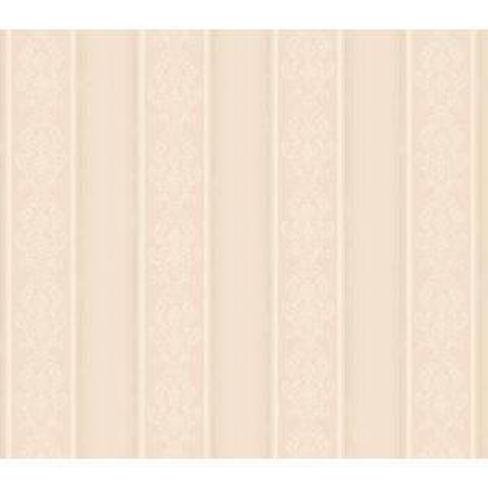 Arabelle Purple Damask Stripe Wallpaper Sample
