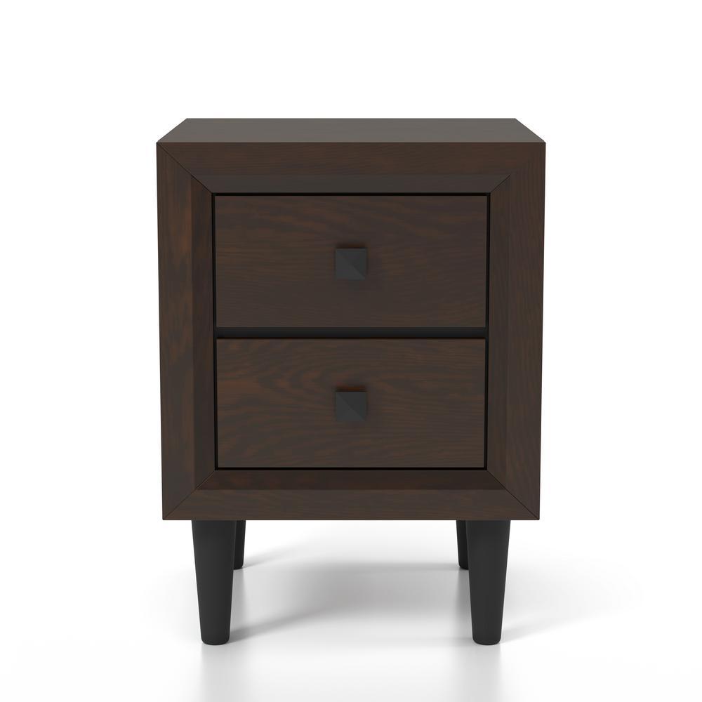 Guthrie 2-Drawer Espresso Nightstand