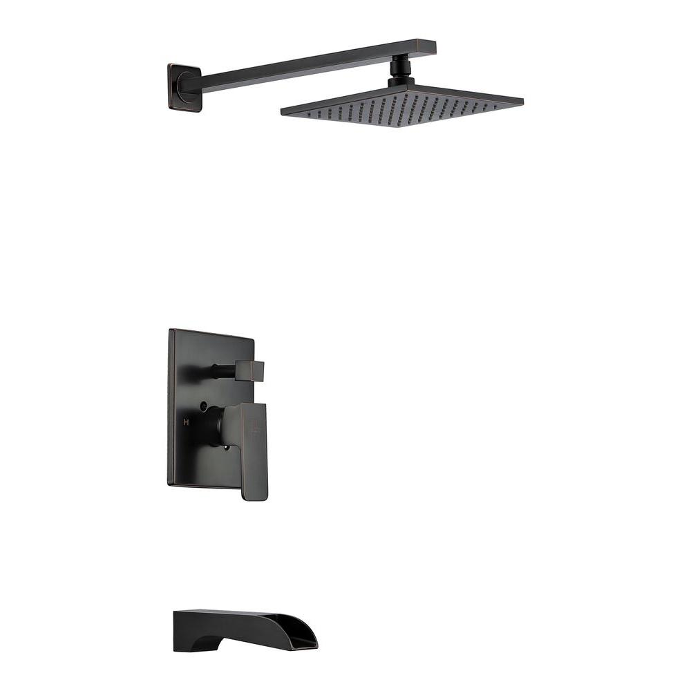 Mezzo Series 1-Handle 1-Spray Tub and Shower Faucet in Oil Rubbed