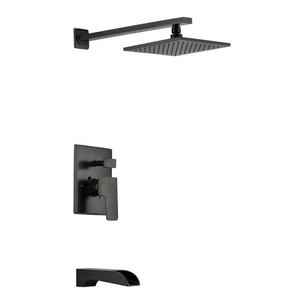Mezzo Series 1-Handle 1-Spray Tub and Shower Faucet in Oil Rubbed Bronze (Valve Included)
