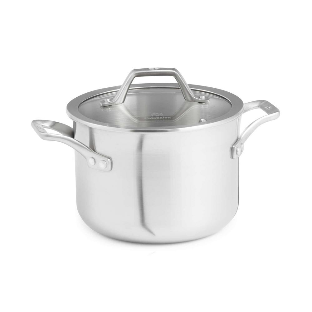 Signature 4 qt. Stainless Steel Soup Pot with Cover