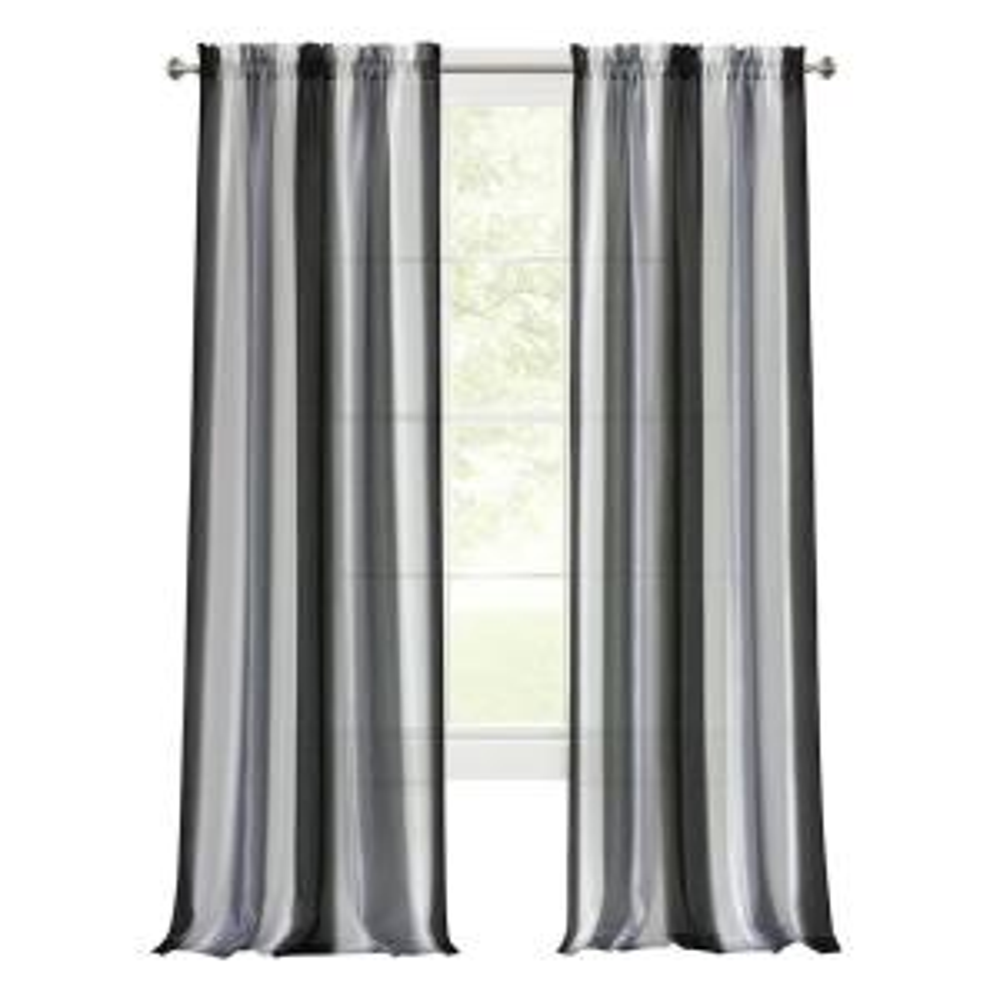 Spectrum 50 in. W x 84 in. L Polyester Light Filtering Window Panel in Black/Silver