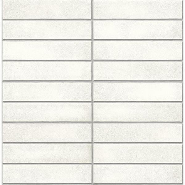Midcentury White Modern Bricks Paper Strippable Roll (Covers 56.4 sq. ft.)