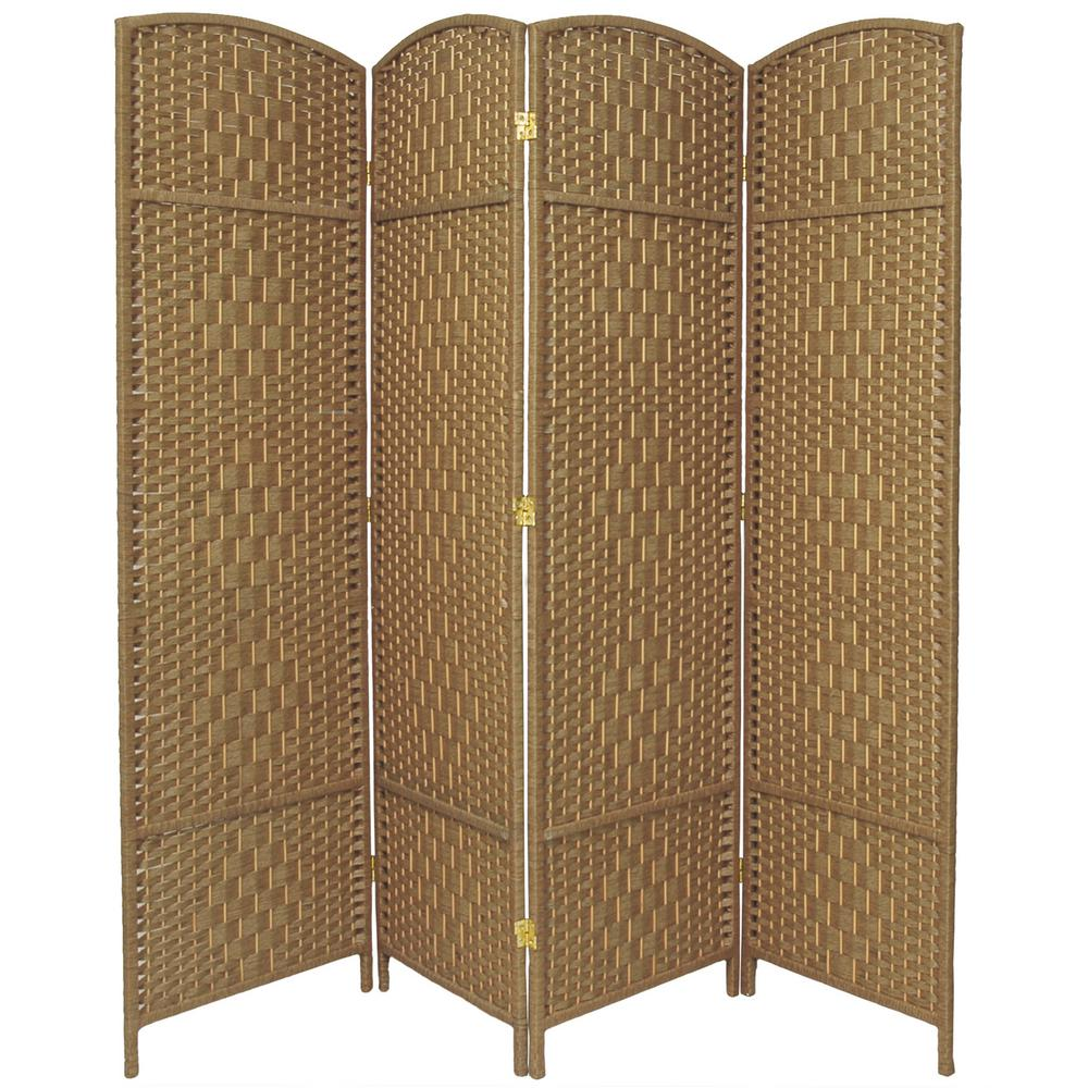 6 ft. Natural 4-Panel Room Divider