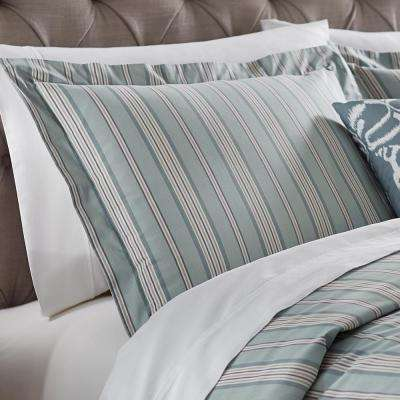 Nuri Striped Blue Haze Euro Pillow Sham