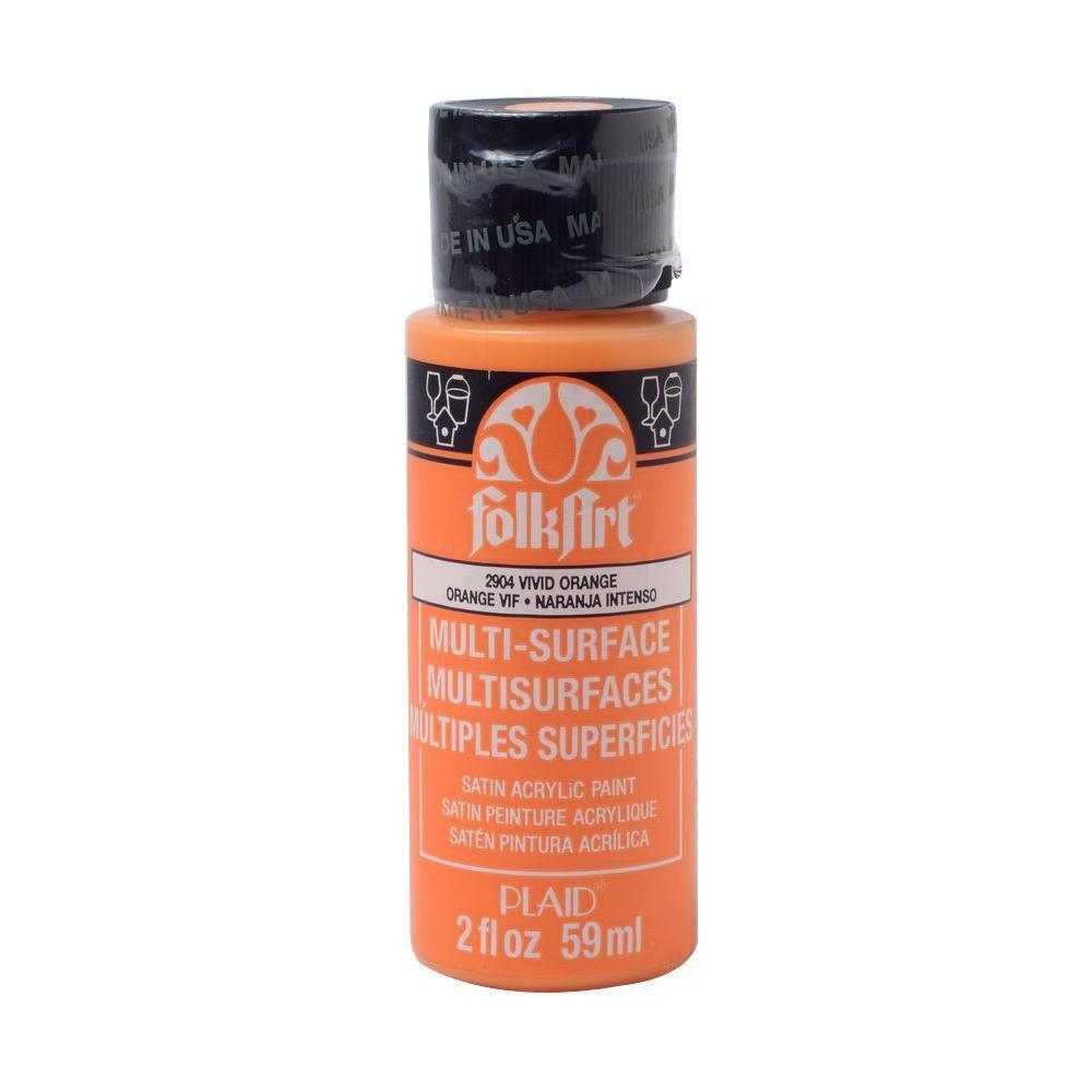 2 oz. Vivid Orange Multi Surface Paint