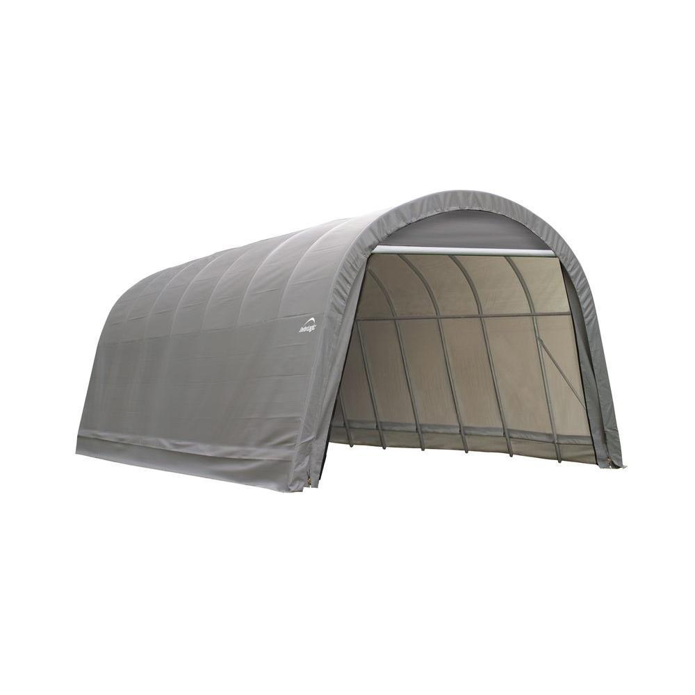 ShelterLogic 15 ft. W x 28 ft. L x 12 ft. H Round Top ...