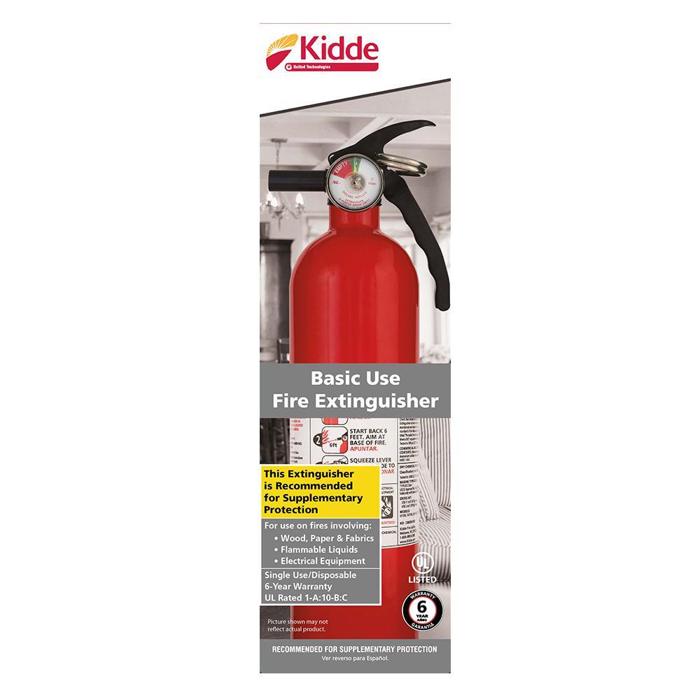 Kidde 1 A 10 B C Recreational Fire Extinguisher 21029284 The Home Depot