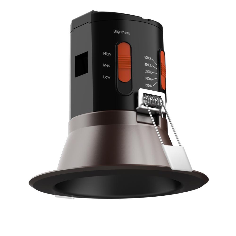 Premium Downlight 4in. Dark Bronze Integrated LED Recessed Kit