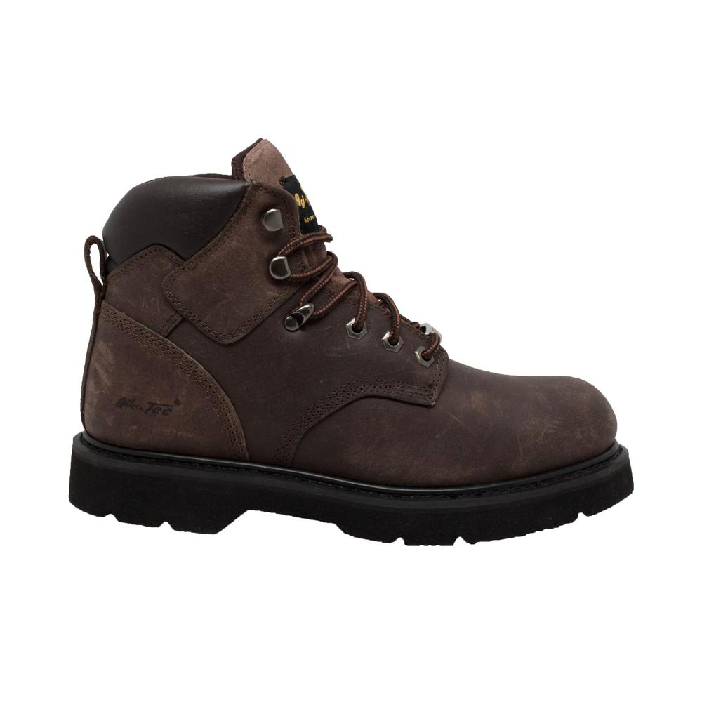 Adtec Men S Size 10 5 Brown Leather 6 In Work Boots 9328