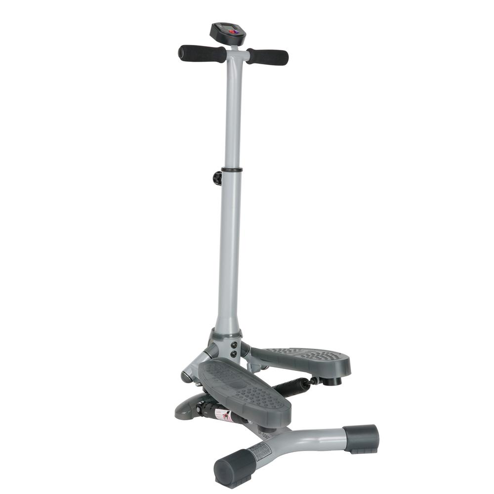 Sunny Health & Fitness Twist-In Stepper Step Machine with Handlebar and LCD Monitor