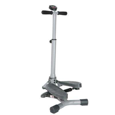 Twist-In Stepper Step Machine with Handlebar and LCD Monitor
