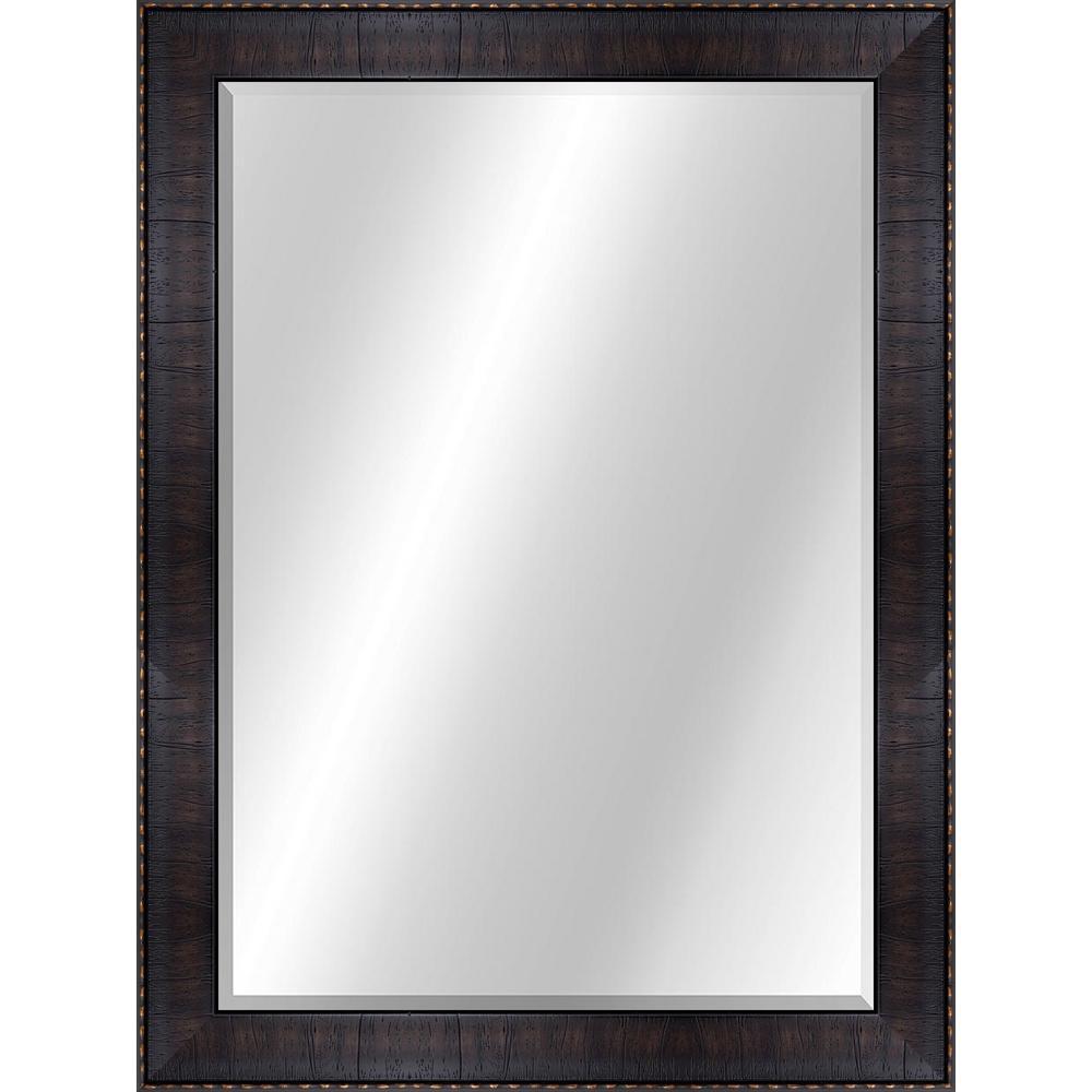 Wood Toned 22 x 28 Value Core Dark Brown Framed Vanity Mirror